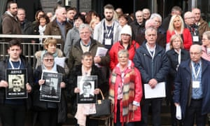 Relatives of those who died on Bloody Sunday in Derry