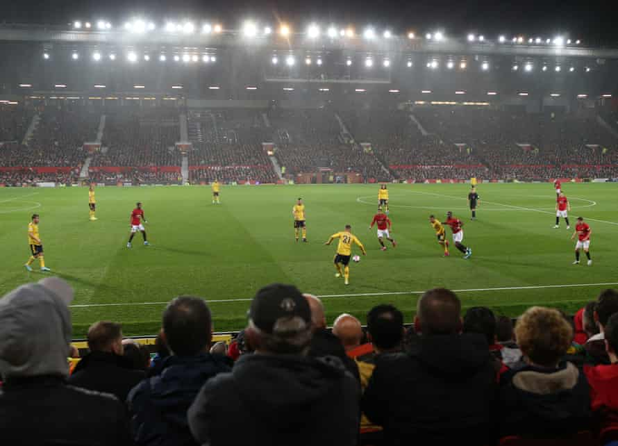 A wide shot of Old Trafford during Monday's match.