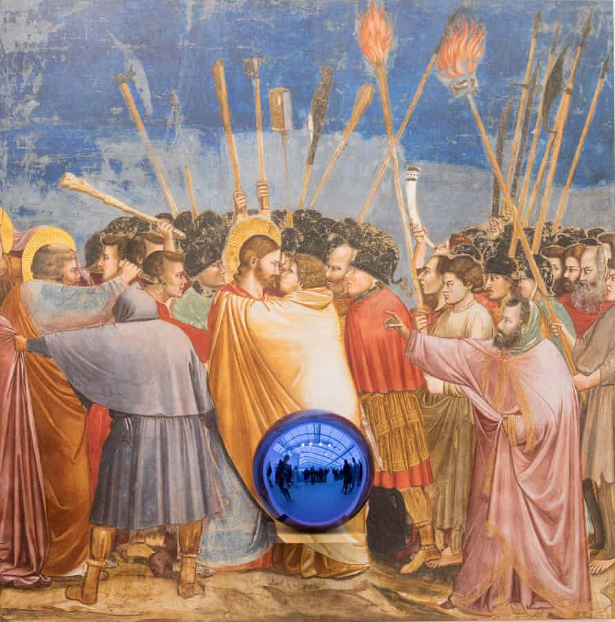 Glitterball Judas … the reworking of Giotto by Jeff Koons.