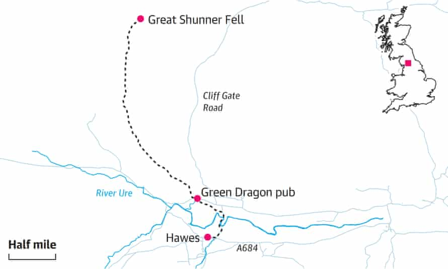 Green Dragon pub map, Yorkshire
