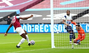 Antonio puts West Ham one up.