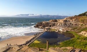 The Sutro Baths on Lands End was once a decadent swimming pavilion built in the late 19th century.
