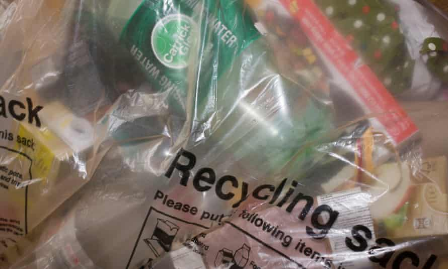 Contents of recycling sack