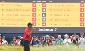 Tiger Woods led briefly on the final day but was unable to secure his first major in a decade.