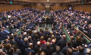 MPs in the House of Commons vote to defeat European Union (withdrawal) bill