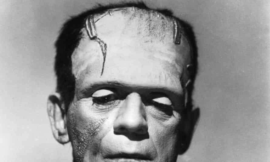 Monster, Monster1931: British actor Boris Karloff lowers his eyes as the Monster in a promotional portrait for director James Whale's film, 'Frankenstein'. (Photo by Hulton Archive/Getty Images)