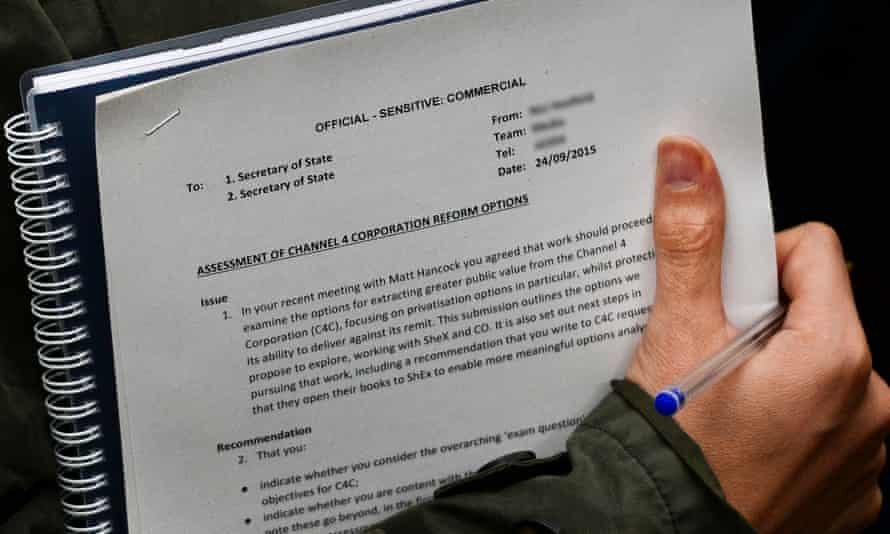 The document seen being taken into into Downing Street by a government official