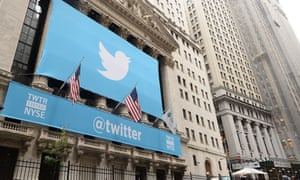 The New York Stock Exchange on the day Twitter floated in 2013.