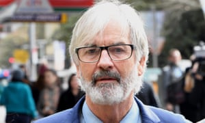 Actor John Jarratt arrives at the Downing Centre Local Court in Sydney on Friday where he was found not guilty of rape.