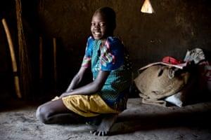 Monica, 12, at her home in Rumbek, South Sudan