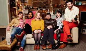 Early start: Fresh Meat series 4 with Greg McHugh, Kimberley Nixon, Charlotte Ritchie, Joe Thomas and Jack Whitehall.