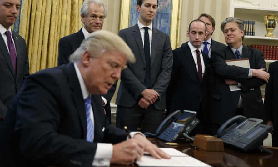 Trump and team