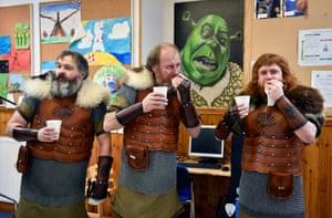 Vikings eat breakfast