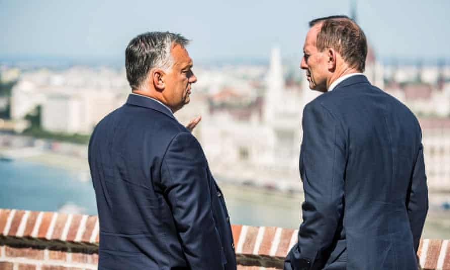 Viktor Orbán with the former Australian PM Tony Abbott