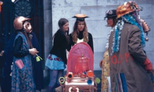 A COUM performance outside Ferens Art Gallery in Hull in 1971.