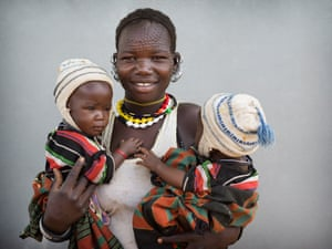 Regina Lokii, from Karamoja, with her nine-month-old twin girls