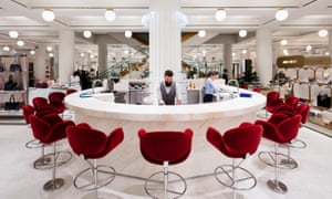 The Fount bar in the new Selfridges accessories hall