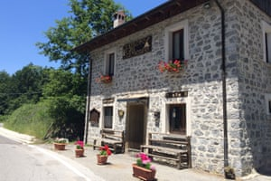 Il Ristoro del Carbonaio mountain restaurant.