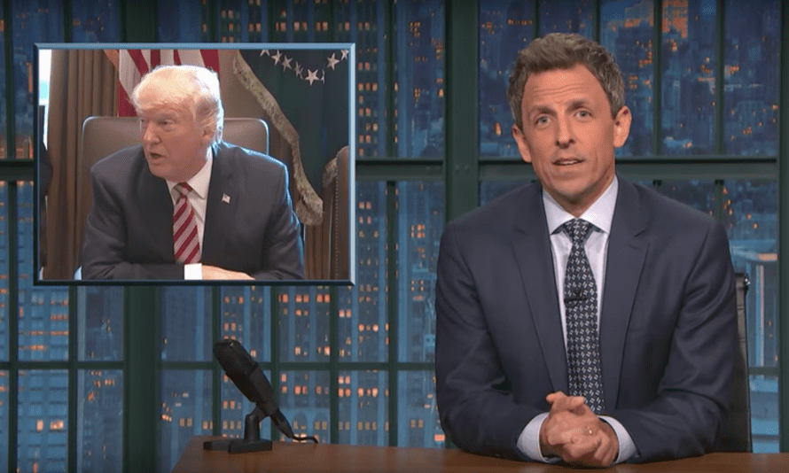 'Is there anything creepier than watching Trump make his staff go around the room and praise him?' ...Seth Meyers