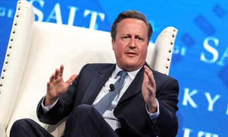David Cameron speaks at the Salt conference in Las Vegas, Nevada, in May