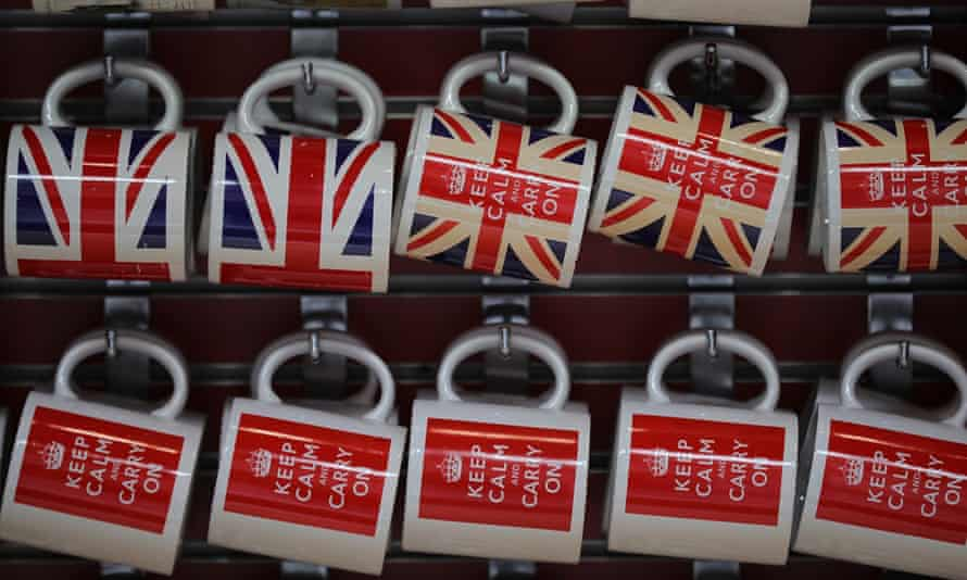 Mugs with union jack and keep calm and carry on