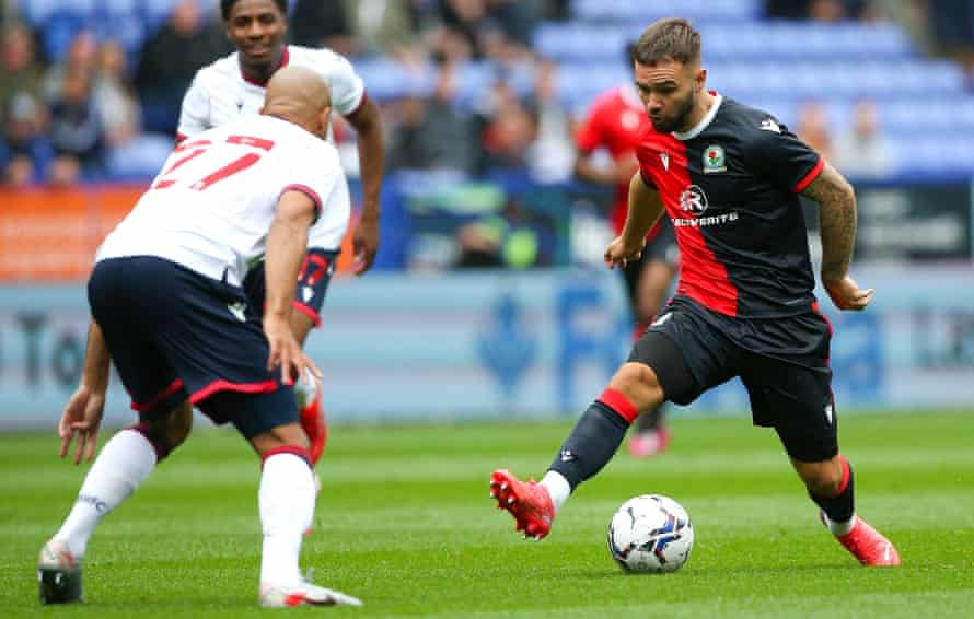 Adam Armstrong playing against Bolton