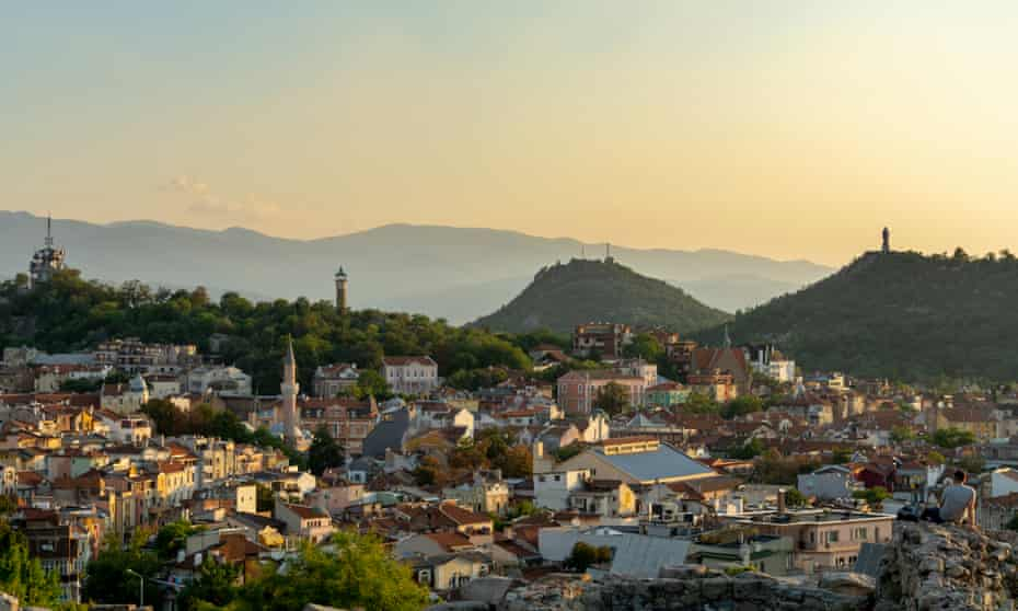 Panoramic view of the city of Plovdiv, Bulgaria