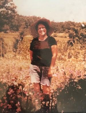 Donna Ladd's mother in her garden.