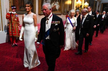 Melania Trump with Prince Charles.