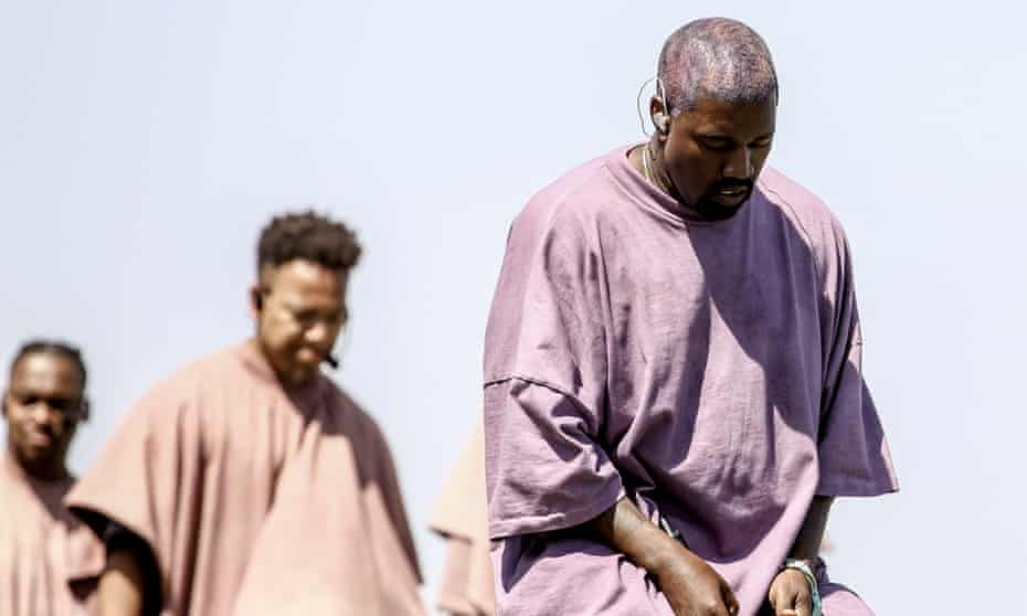 Kanye West performs Sunday Service during the 2019 Coachella festival, 21 April 2019.