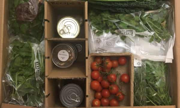Riverford's organic recipe delivery box.