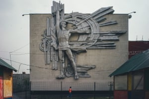 'Prometheus' bas-relief, Palace of CultureTolyatti, Russia Designers: Y. Bosco, A. Fetisov This large decorative panel, designed by Honoured Artist of the RSFSR Yuri Bosko, was installed on the Palace of Culture belonging to the 'Sintezkauchuk' (Togliatti) factory in 1975. Constructed from titanium, it is 11 metres wide by 14.5 metres high.