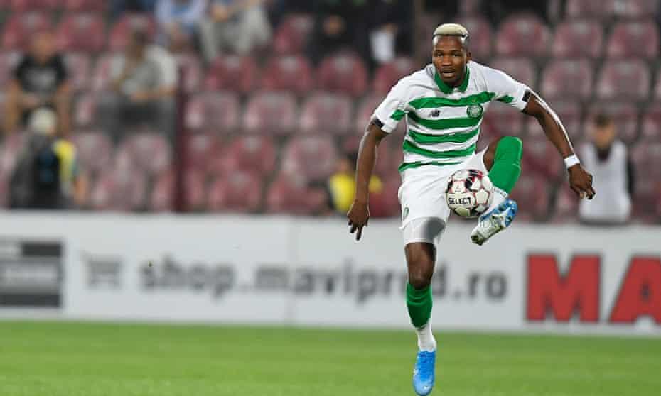 Boli Bolingoli in action for Celtic in August 2019