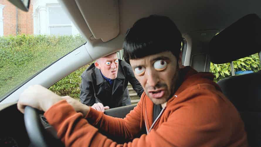 Jonny Wallop (Dom Coleman) and Herbert Clunkerdunk (Spencer Jones) in The Mind of Herbert Clunkerdunk