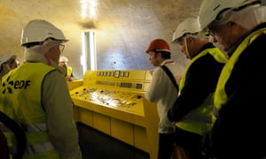 People visiting EDF's disused reactor