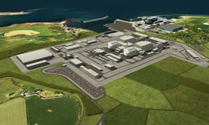 An artist's impression of the proposed nuclear power station at Wylfa on Anglesey, north Wales