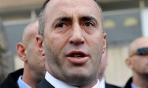Kosovo former prime minister Ramush Haradinaj