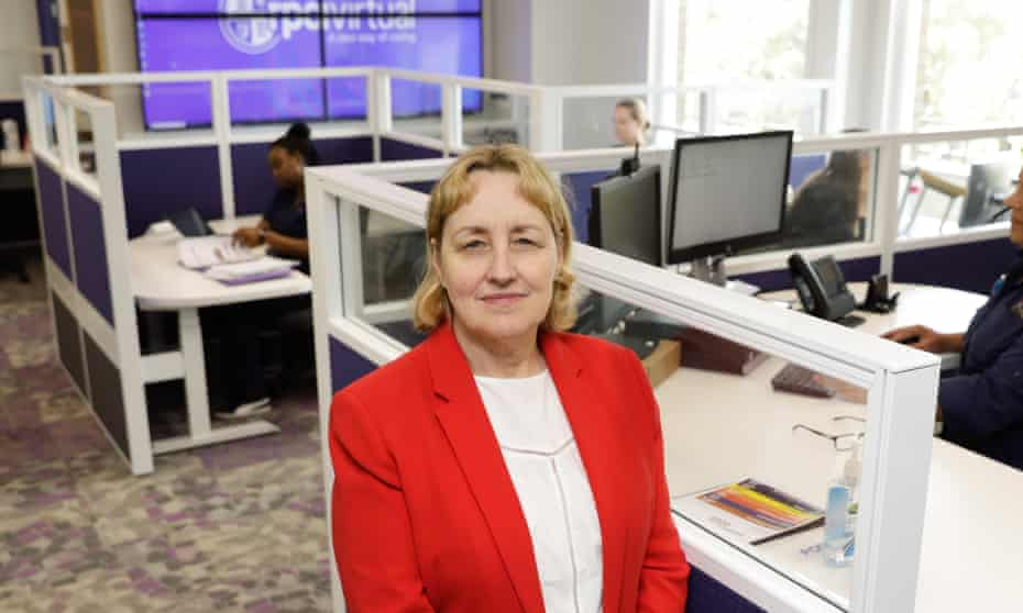 Dr Teresa Anderson, chief executive of the Sydney Local Health District, at the RPA Virtual Hospital, which opened just before Covid-19 was declared a pandemic.