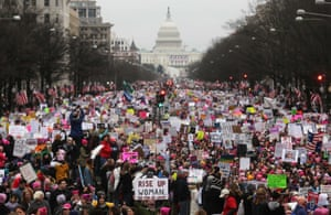 The Women's March on Washington in January 2017.