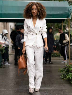 Bang on trend: former Teen Vogue editor-in-chief Elaine Welteroth in a trouser suit