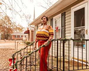 Lanisha Bratcher, photographed at her home in North Carolina. In 2016, while on probation, Bratcher voted in Hoke County, NC., not knowing that it was illegal for people on probation to vote.