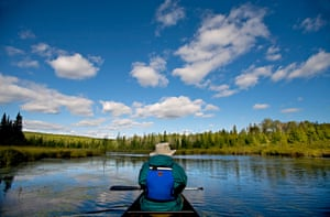 Canoeing in the Boundary Waters canoe area wilderness
