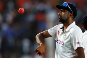 Ravichandran Ashwin of India after his 400th test wicket.