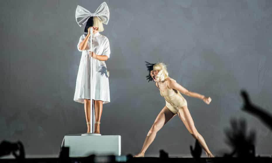 Sia with Maddie Ziegler, at the first show of her 2017 Australian tour, in Melbourne