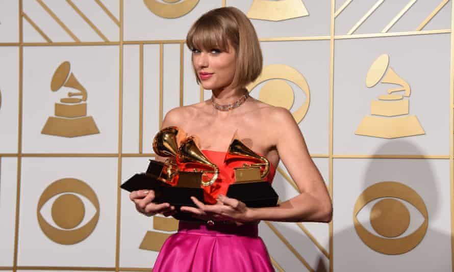 Taylor Swift at the Grammy awards in February