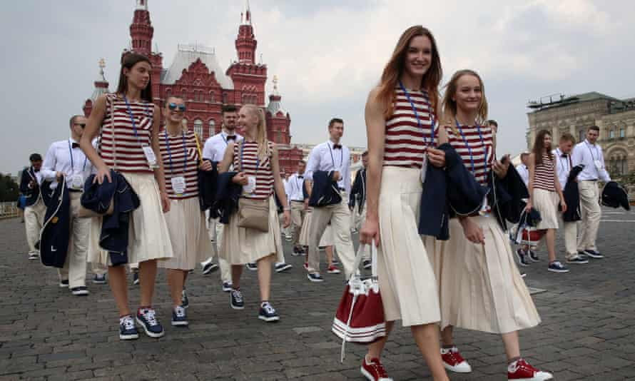 Russian Olympic team athletes