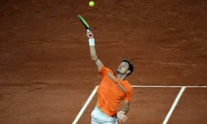 Pablo Carreño Busta won the first set against Novak Djokovic.