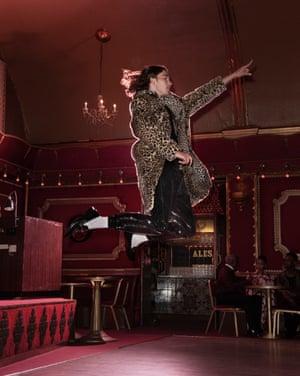 model wears coat, £149.99, and joggers, £79.99, both hm.com. Polo, £55, cosstores.com. Loafers, £100, dunelondon.com. Socks, £12 for 5, asos.com.
