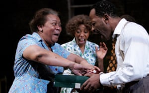 Novella Nelson, Noma Dumezweni and Lennie James in A Raisin in the Sun at the Lyric Hammersmith in 2005.