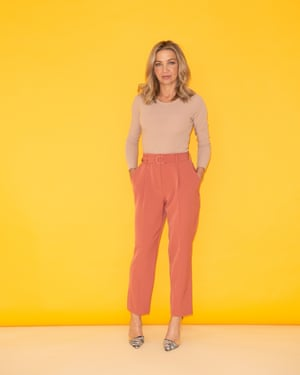 Jess Cartner-Morley wearing a bodysuit and trousers